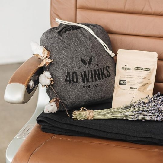 40 Winks Pillow, Lavender & Blanket Set